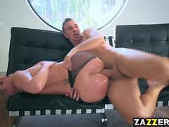 Keiran Lee pounds Brooklyn Chase pussy doggystyle
