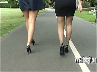Cum naturally in your shoe fetish with stiletto girls long legs and high heels