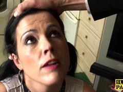 Mature submissive pounded harshly in butthole