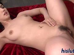 Japanese beauty pleasures dicks in a gangbang