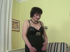 Busty mature gets fucked by a young guy