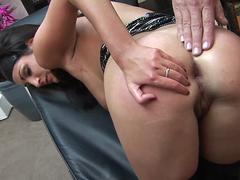 Kat Lee get a superb asslick then banged doggystyle