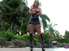Femdom Blonde In Leather