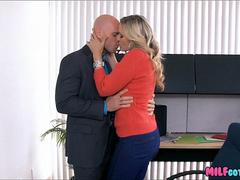 Office MILF Sucks His dick