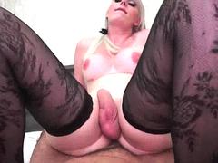 Busty Brazillian Shemale Jumping On Cock