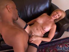 Fat black boner for kinky Erica Lauren
