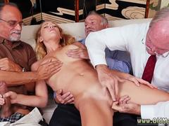 Young russian threesome Frannkie And The Gang Tag Team A Door To Door Saleswoman