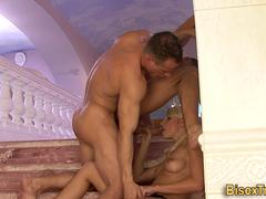 Bisex dude tugs facial