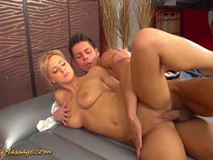 slippery massage sex with Nathalie Cherie