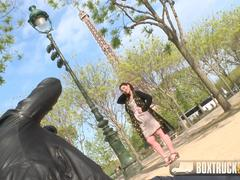 Beautiful Mylene Johnson has Hardcore Public Sex in Paris
