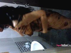 Indian Bhabhi Reenu Teasing Her Husband Naked In Shower