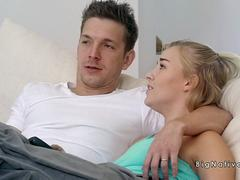 Dude fucks natural huge tits gfs sis