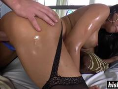 Mercedes Carrera in stockings gets drilled