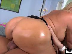 Blonde MILF with big tits does anal
