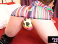 Gorgeous femboy rubs her fat cock