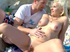 Hot Blonde Gobbles Cock, Gets Fucked Hard