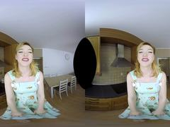 Anny Aurora as a vintage housewife in VR