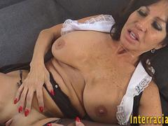 Milf interracially jizzed