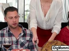 Evelin and her stepmum Blake on a thanks giving threesome