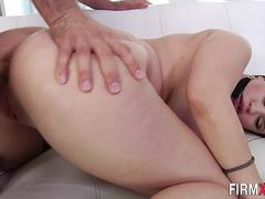 Rimmed babe ass creampied