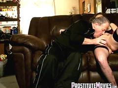 Latina Hooker barebacking and creampie with older man