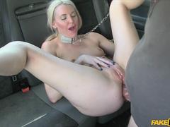 Golden shower and kinky anal with my blonde passanger