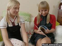 Lesbian Schoolgirls Do Some Anal Exploration