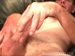 Mature Amateur Billy Jerks Off