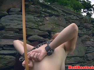 Ginger sub treated outdoor with medical enema