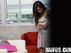 Mofos - Pervs On Patrol - Keisha Grey - Busty Neighbor Catches Peeping Tom