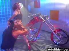Biker Chick Audrey Hollander Gets Hard Anal