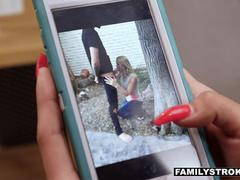 FamilyStrokes - Sexy Teens Blackmail And Fuck Milf