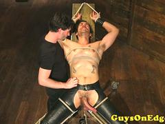 BDSM maledom edging restrained hunks dick