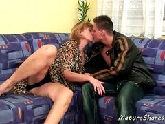 Horny Mature Woman Gives a Blowjob