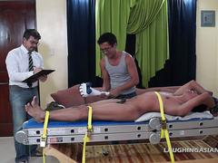 Asian Boy Alex Bound and Tickled
