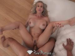 PureMature MILF Brandi Love fucked with dripping deep creampie