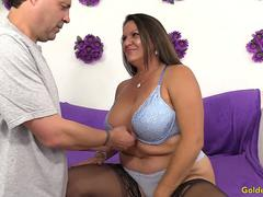 Older Slut Leylani Wood Takes a Long Prick in Her Mouth and Pussy