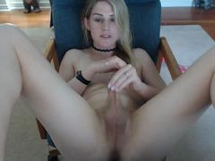 Pretty tranny trap with small tits love to tease on webcam