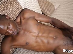 Black African Max Jacking Off