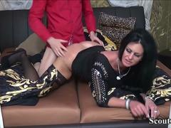 German MILF Order Young Callboy to Fuck and Cheating Husband
