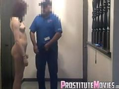 Surprise blowjob to the food delivery boy