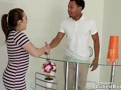 Kimber Woods and her black masseur