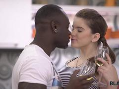 BLACK4K. Sweet chick Karol Lilien really enjoys sex with black guy