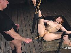 Master anal fucks chained redhead slave