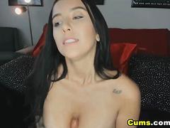 Beautiful Big Tits Babe Loves to Ride Her Toy