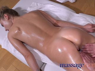 Massage Rooms Beautiful blonde babes oiled lesbian tribbing and facesitting