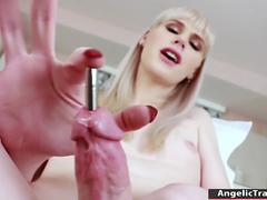 Tgirl Lianna Lawson gets her juicy ass fucked by a huge dildo