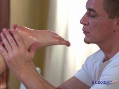 Massage Rooms Creampie fucking for sexy Romanian