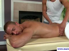 Massage loving jock getting anally fucked