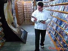 18 Videoz - Polina - Quick sex in a DVD store